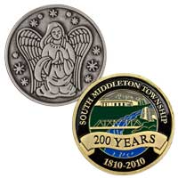 Custom Die Struck Coins - 1 1/2 Inch 2 Sided