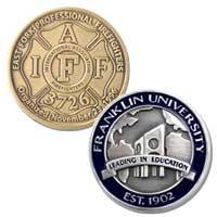 Custom Die Struck Coins - 1 1/4 Inch 1 Sided