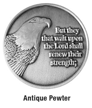 Custom Die Cast Antique Pewter Finish Zinc Coin - 1 1/2 inch