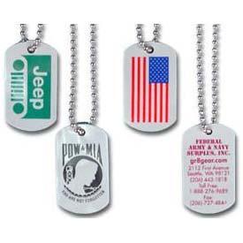 Custom Plastic Dog Tags and chain