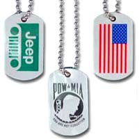 Custom Plastic Dog Tags - 2 Sided, 250 Minimum