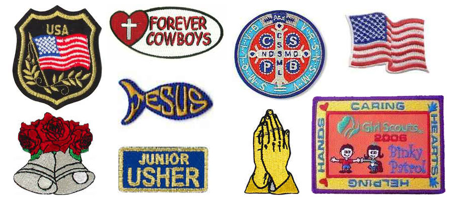 embroidered patches image