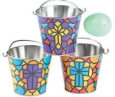 Stained Glass Bucket (Pkg of 4)