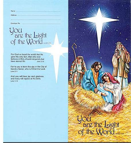 $10.00 Advent Christmas Coin Folder (Pkg of 50)