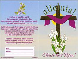 $20.00 Alleluia Easter Dollar Bill Folder (Pkg of 50)