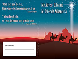 $20 Bilingual Advent Coin Folder – They Rejoiced (Pkg of 50)