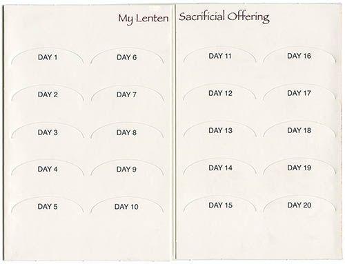 Lenten Offering Back