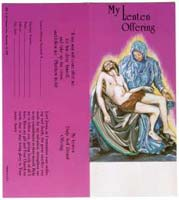 Pieta Lenten Offering Coin Folder