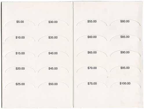 Steps of Faith Dollar Bill Folder Back
