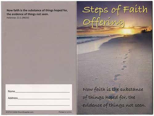 $100.00 Steps of Faith Five Dollar Bill Folder (Pkg of 50)