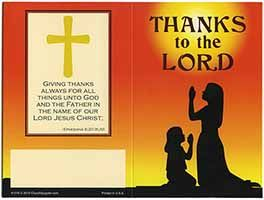 $20.00 Thanks to the Lord Dollar Bill Folder (Pkg of 50)