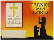 #1076 Thanks to the Lord $20.00 Donation Folders