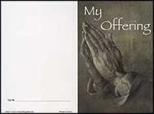 1077 $20 - Dollar Donation Praying Hands Folder - Pk of 50