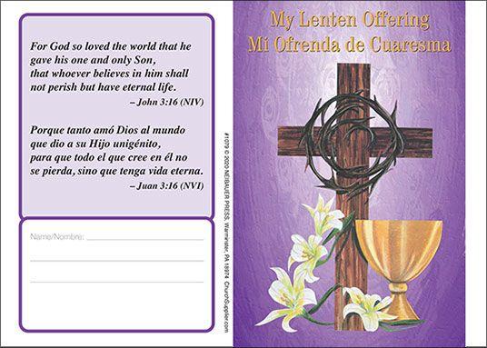$20 Bilingual Lent Folder - John 3:16 (pkg of 50)