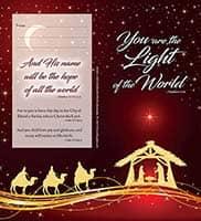$40 Christmas Dollar Bill Folders (Pkg of 50) - Light of the World