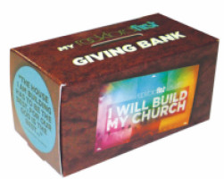 2 Color Custom Donation Bank Box Small Cardboard