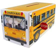 Church School Bus Donation Bank Box  (Pkg of 10)