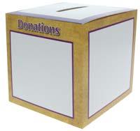 Donations Fundraising Box  (Pkg of 50)