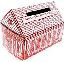 Cardboard Church Bank box