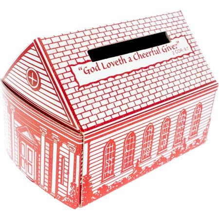 Cheerful Giver Cardboard Church Offering Banks