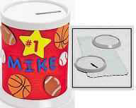 Design Your Own! Round Coin Banks