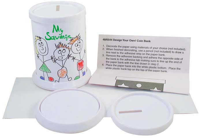 Design  & Color Round Coin Donation Banks