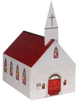 Church Shaped Donation Bank Cardboard