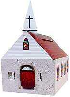 Large cardboard Church Bank