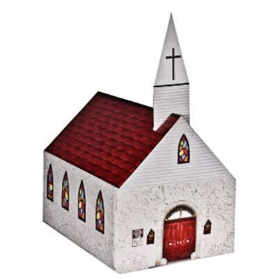 Church Shaped Donation Bank Cardboard