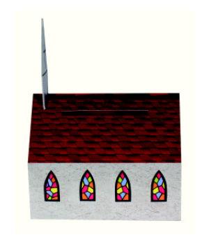 Church Shaped Donation Bank