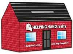 Imprinted Cardboard House Banks 2 Colors