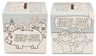 Coloring Box, Kids Can Help Too Offering Bank