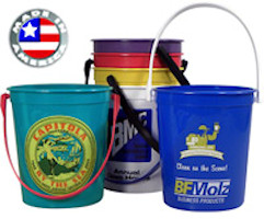 32 oz.Donation Sand Pails Buckets Large With Coin Slot