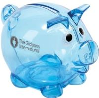 Piggy Bank Plastic Imprinted (100 Minimum)