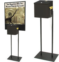 Steel Donation Box with Floor Sign Stand