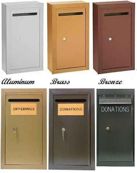 Outdoor Aluminum Locked Donation Boxes