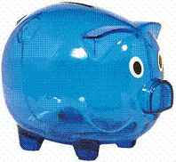 Medium 5 Inch Piggy Bank Imprinted 150 Minimum