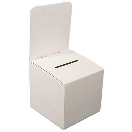 Large Cardboard Donation or Ballot Box (Pkg of 10)