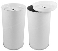 Donation Cans, Blank Removable Top
