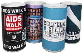 Custom Removable Bottom Donation Cans Cases