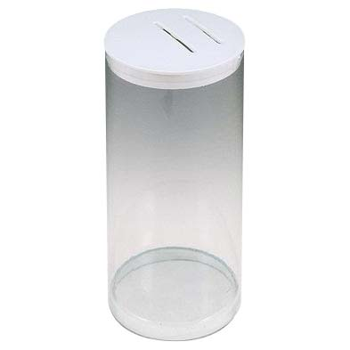 Clear Plastic Removable Top Fund Raising Cans (Case of 25)