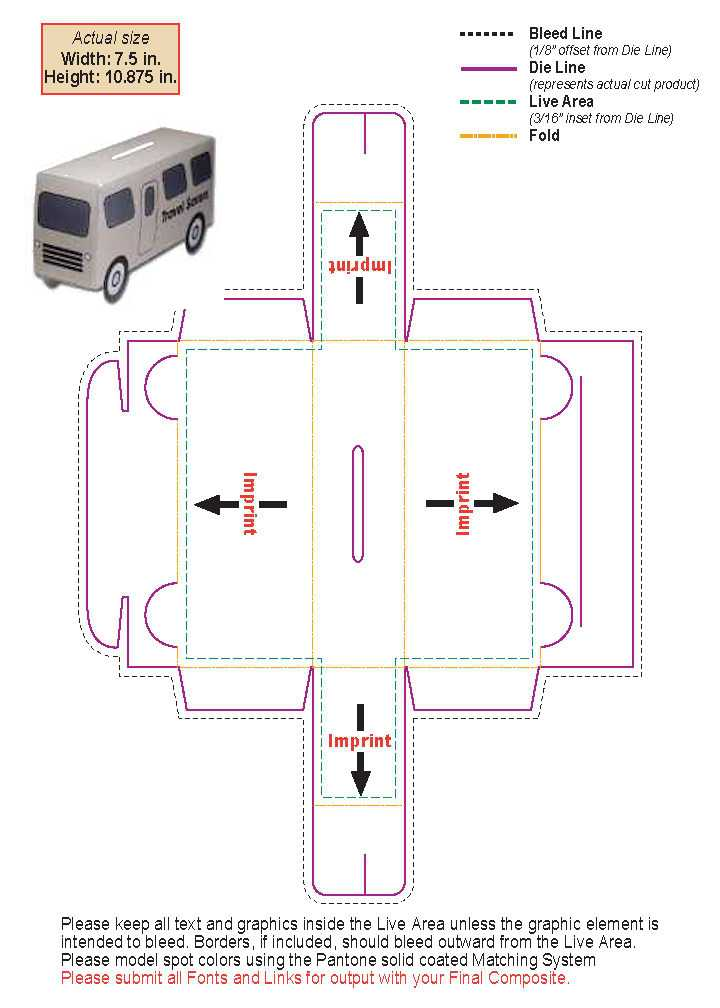small bus bank template custom imprinted