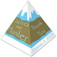 Large Pyramid Cardboard Box Custom Printed