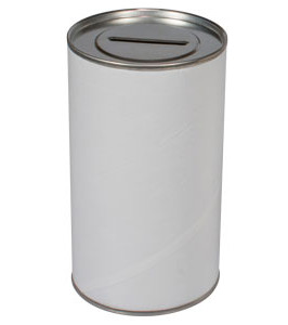 Blank Charity 3 Inch Wide Donation Cans (Box of 16)