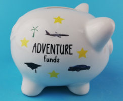 Adventure Piggy Saving Bank  Ceramic Large