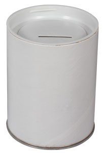 Removable Top Donation Cans Blank (Case of 100)