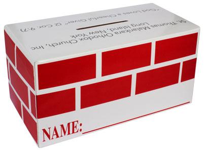 Large Customized Cardboard Donation Box Bank