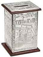 Tzedakah: Charity Box, Silver-Plated