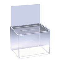 Lucite Donation Box Larger Sign Holder