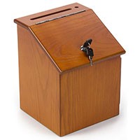 Wooden Donation Box for Wall or Table